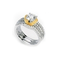 .53ct Simon G Diamond Platinum and 18k Yellow Gold Engagement Ring Setting