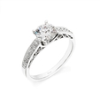 .20ct Simon G Diamond Antique Style Platinum Engagement Ring Setting