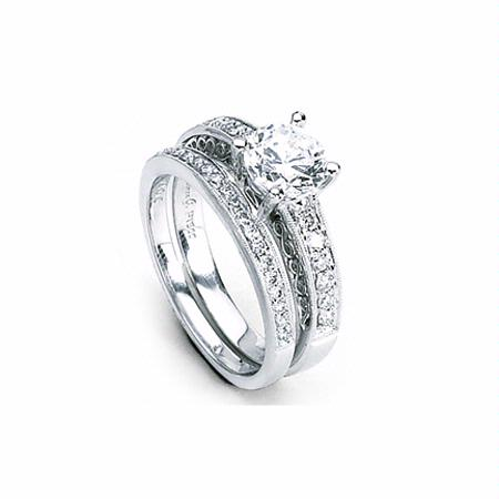 Simon G Diamond Antique Style Platinum Engagement Ring Setting