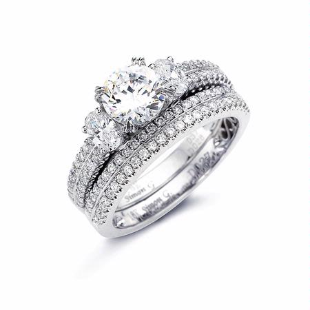 Simon G Diamond Platinum Wedding Band Ring