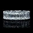11.12ct Diamond Platinum Eternity Wedding Band Ring