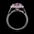 .37ct Diamond and Pink Quartz 14k White Gold Ring