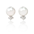 .96ct Diamond and South Sea Pearl 18k White Gold Earrings