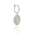2.37ct Diamond 18k White Gold Dangle Earrings