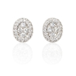 2.08ct Diamond 18k White Gold Cluster Earrings