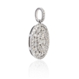 1.54ct Diamond 18k White Gold Cluster Pendant