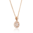 .53ct Diamond 18k Rose Gold Pendant Necklace