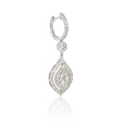 1.37ct Diamond 18k White Gold Dangle Earrings