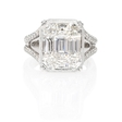 3.41ct Simon G Diamond 18k White Gold Mosaic Engagement Ring