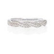 .21ct Simon G Diamond Antique 18k White Gold Wedding Band Ring