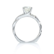 .19ct Simon G Diamond Antique 18k White Gold Engagement Ring Setting