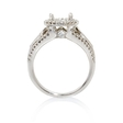 .81ct Simon G Diamond Antique Style 18k White Gold Halo Engagement Ring Setting
