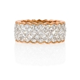 5.11ct Simon G Diamond Antique 18k Two Tone Gold Eternity Wedding Band Ring