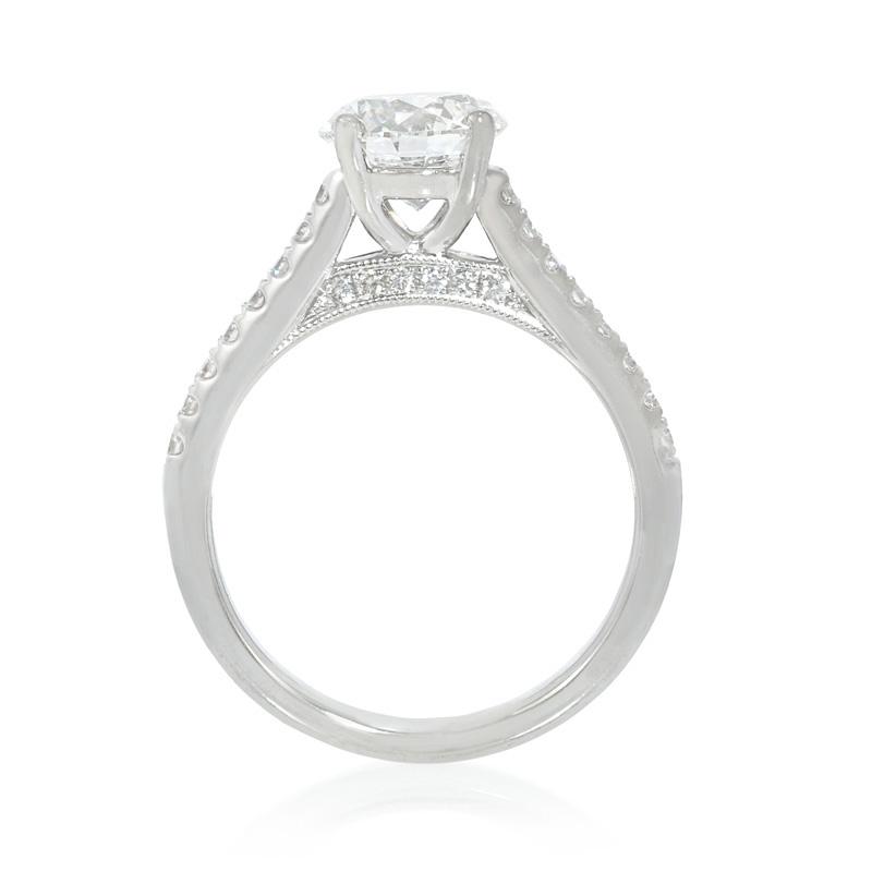 24ct Diamond Platinum Antique Engagement Ring Setting