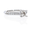 .24ct Diamond Platinum Antique Engagement Ring Setting