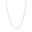 1.00ct Diamond Chain 18k White Gold Necklace