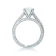 .71ct Diamond Cathedral Pave Platinum Engagement Ring Setting