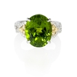 .80ct Simon G Diamond and Peridot 18k White Gold Ring