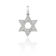 .24ct Diamond 18k White Gold Star of David Pendant
