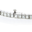 7.13ct Diamond 18k White Gold Tennis Bracelet