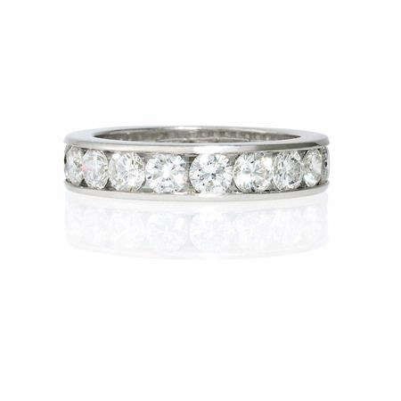 2.60ct Diamond Platinum Eternity Wedding Band Ring