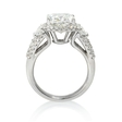 1.67ct Diamond 18k White Gold Halo Engagement Ring Setting