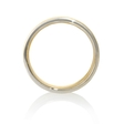 Men's 18k Two Tone Gold Wedding Band Ring