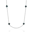 13.95ct Diamond and Tahitian Pearl 14k White Gold Necklace