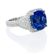 2.01ct Diamond and Blue Sapphire 18k White Gold Ring