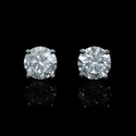 Diamond 1.20 Carats 14k White Gold Stud Earrings