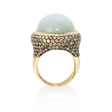 5.21ct Diamond and Moonstone 18k Yellow Gold Ring