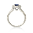 .24ct Diamond and Blue Sapphire 14k White Gold Ring
