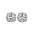 .16ct Ritani Floral Collection Diamond 18k White Gold Earring Jackets