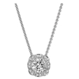 .08ct Ritani Floral Collection Diamond 18k White Gold Pendant Necklace