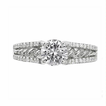 Ritani Anadare Collection Diamond 18k White Gold Engagement Ring Setting