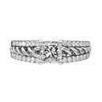 .21ct Ritani Anadare Collection Diamond 18k White Gold Engagement Ring Setting