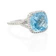 .38ct Diamond and Blue Topaz 18k White Gold Ring
