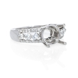 .45ct Diamond 18k White Gold Engagement Ring Setting