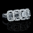 1.48ct Diamond 18k White Gold Wedding Band Ring