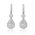 1.94ct Diamond 18k White Gold Dangle Earrings