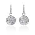 3.32ct Diamond 18k White Gold Reversible Drop Dangle Earrings