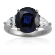 1.02ct Diamond and Ceylon Sapphire 18k White Gold Ring