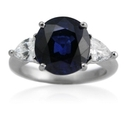 Diamond and Ceylon Sapphire 18k White Gold Ring