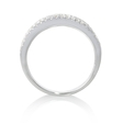 .49ct Diamond 18k White Gold Wedding Band Ring