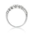 1.01ct Diamond 18k White Gold Wedding Band Ring
