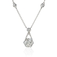 1.71ct Diamond 18k White Gold Pendant Necklace