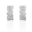 2.37ct Diamond 18k White Gold Huggie Earrings
