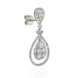 3.10ct Diamond 18k White Gold Dangle Earrings