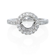 .33ct Diamond Platinum Halo Engagement Ring Setting