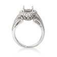 .67ct Diamond 18k White Gold Halo Engagement Ring Setting